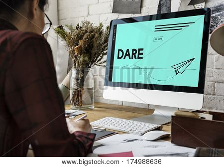 Dare Brave Strong Bold Graphic