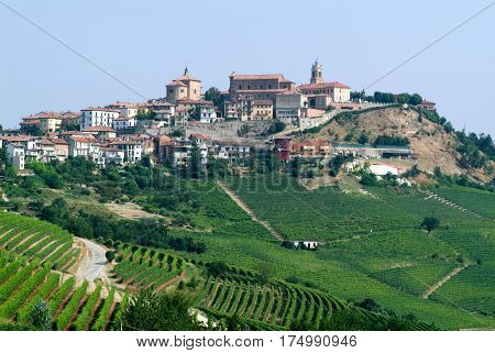 The Village Of La Morra In Piedmont