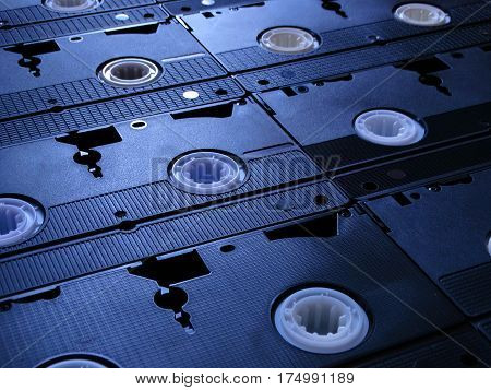 Video cassette recorder vintage retro vhs old 70s 80s 90s