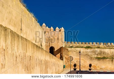 Walls of the Royal Palace of Meknes in Morocco poster