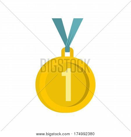 Medal for first place icon isolated on white background vector illustration