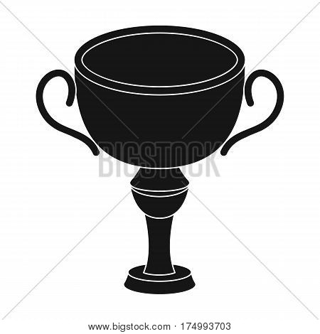 Silver award winner of the competition.The Cup for second place.Awards and trophies single icon in black style vector symbol stock web illustration.