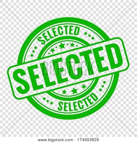 Vector selected stamp isolated on transparent background