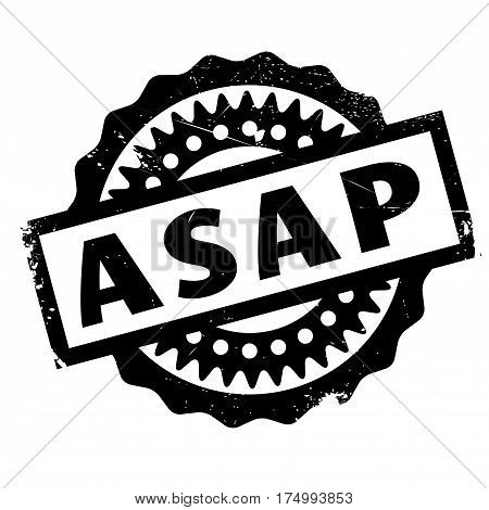 Asap rubber stamp. Grunge design with dust scratches. Effects can be easily removed for a clean, crisp look. Color is easily changed.