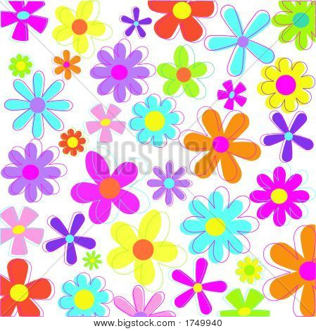Retro Styled Flowers