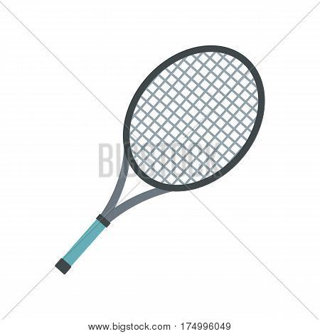 Tennis racket icon isolated on white background vector illustration