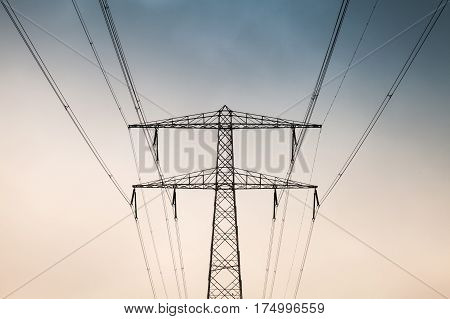 Electricity Pylon, Front View