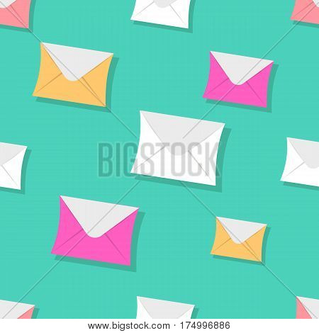 Seamless Pattern Emails, Letters, Directed Upwards