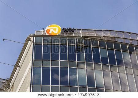 Prague, Czech Republic - March 3: Nationale-nederlanden From Nn Group Insurance Company Logo On Buil