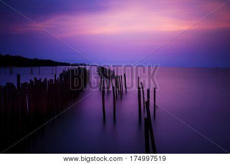 Twilight Sky Over Soft Motion Sea