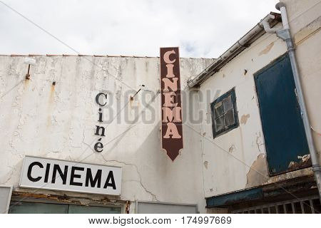 In The French Countryside A Very Old Ancient Cinema