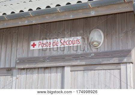 Poste De Secours In France Means Emergency Station
