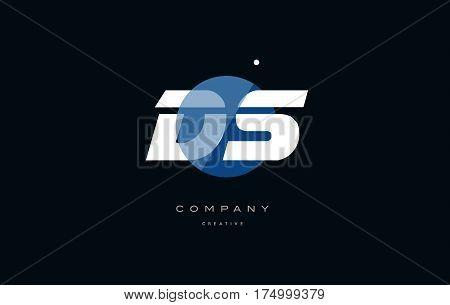 Ds D S  Blue White Circle Big Font Alphabet Company Letter Logo