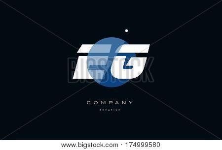 Eg E G  Blue White Circle Big Font Alphabet Company Letter Logo