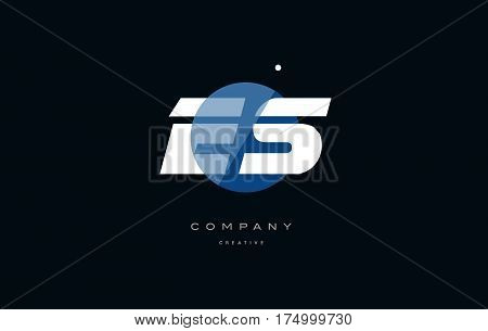Es E S  Blue White Circle Big Font Alphabet Company Letter Logo