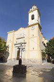 View of the Parish San Vicente Ferrer in San Vicente del Raspeig Alicante province in Spain. poster