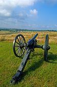 A US Civil War era cannon at Antietam Battlefield at Sharpsburg Maryland USA. poster