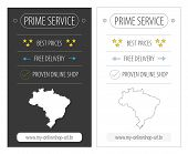 Brazil top service eCommerce banner illustration in two variations poster