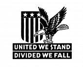 United We Stand 2 - Retro Ad Art Banner poster