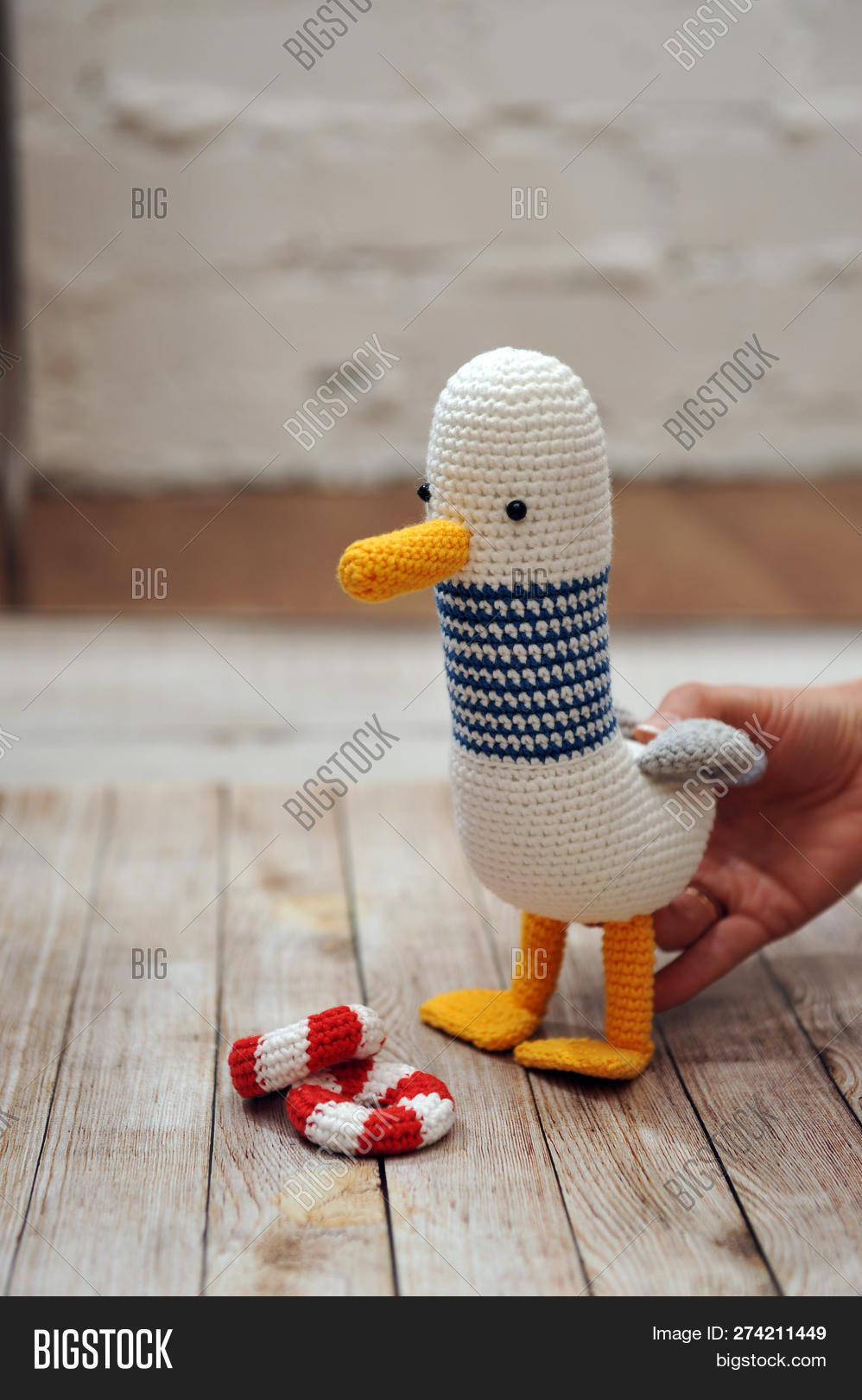 Amigurumi Toy Seagull Image Photo Free Trial Bigstock