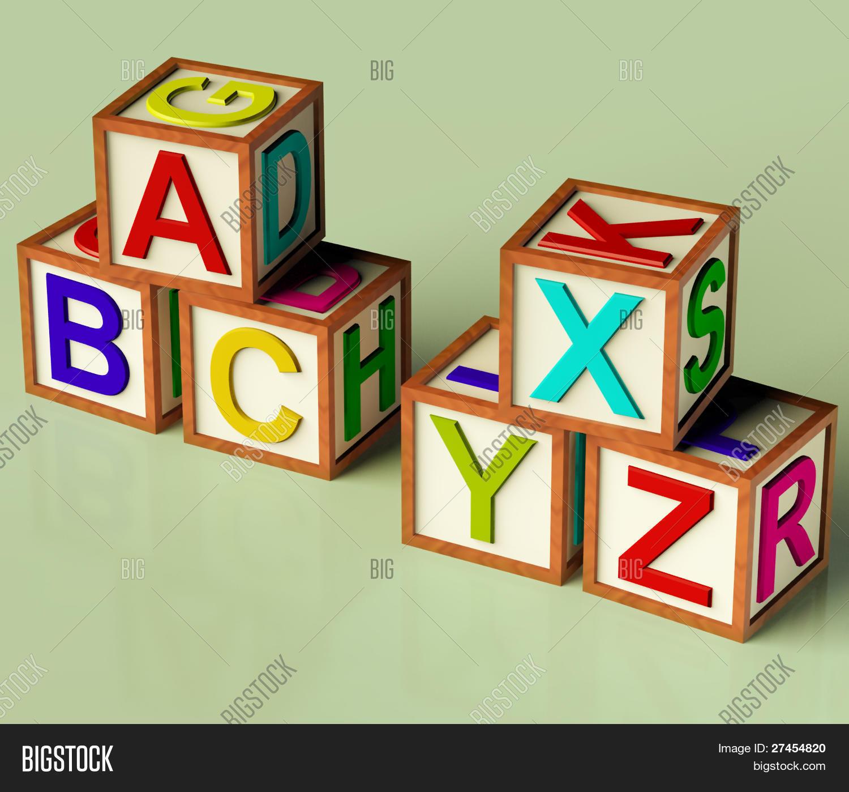 Kids Blocks Abc Xyx Image Photo Free Trial Bigstock