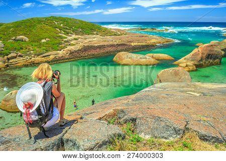Travel Photographer Takes Shot Of Elephant Rocks In William Bay National Park Near Denmark, Western