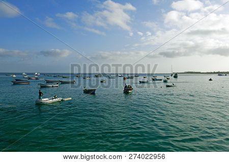 Santa Maria, Sal, Cabo Verde - Cape Verde, África - August 22, 2018. Santa Maria Beach In Sal Cape V