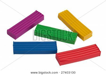 Five Pieces Of Colored Clay