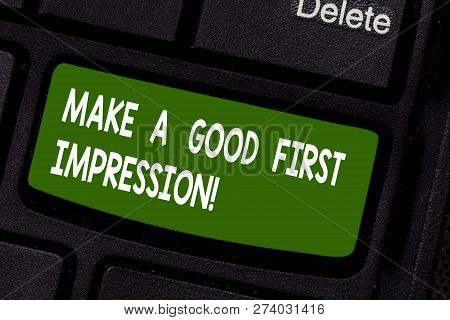 Text Sign Showing Make A Good First Impression. Conceptual Photo Introduce Yourself In A Great Look