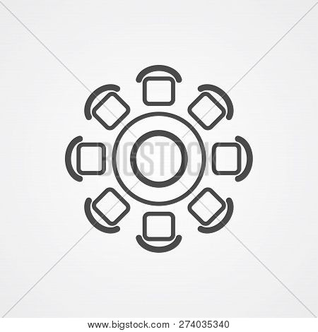 Round Table Icon Vector & Photo (Free Trial) | Bigstock