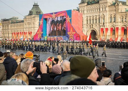 Military Parade Dedicated To The Hisorical Parade Held In 1941 On The Red Square