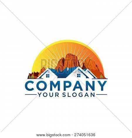 Arizona House Company Logo Template. Arizona Realestate Logo Ilustration. Eps 10
