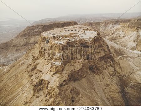Masada Fortress Area Southern District Of Israel Dead Sea Area Southern District Of Israel. Ancient