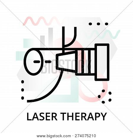 Modern Flat Editable Line Design Vector Illustration, Concept Of Laser Therapy Icon On Abstract Back