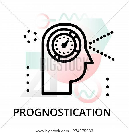 Prognostication Concept Icon On Abstract Background From Science Icons Set, For Graphic And Web Desi