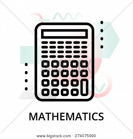 Mathematics Concept Icon On Abstract Background From Science Icons Set, For Graphic And Web Design,