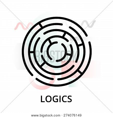 Logics Concept Icon On Abstract Background From Science Icons Set, For Graphic And Web Design, Moder