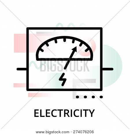 Electricity Concept Icon On Abstract Background From Science Icons Set, For Graphic And Web Design,