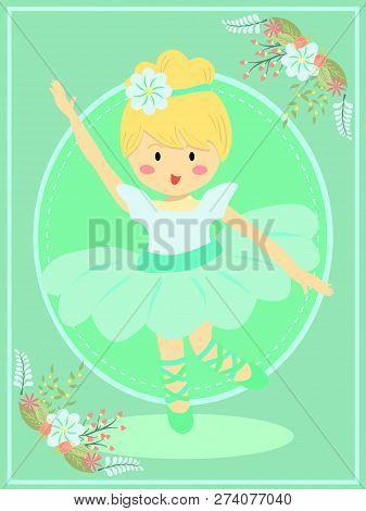 Cute Turquois Ballerina Girl