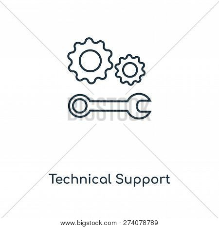 Technical Support Icon In Trendy Design Style. Technical Support Icon Isolated On White Background.