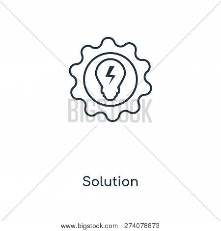 Solution Icon In Trendy Design Style. Solution Icon Isolated On White Background. Solution Vector Ic