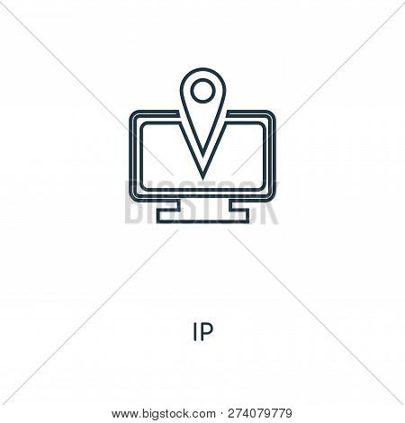 Ip Icon In Trendy Design Style. Ip Icon Isolated On White Background. Ip Vector Icon Simple And Mode