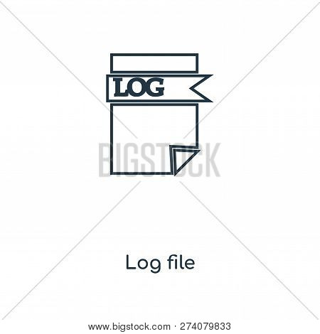 poster of log file icon in trendy design style. log file icon isolated on white background. log file vector icon simple and modern flat symbol for web site, mobile, logo, app, UI. log file icon vector illustration, EPS10.