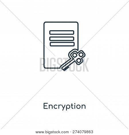 Encryption Icon In Trendy Design Style. Encryption Icon Isolated On White Background. Encryption Vec