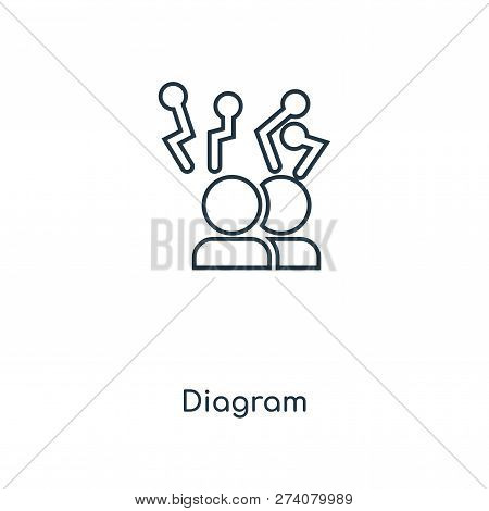 Diagram Icon In Trendy Design Style. Diagram Icon Isolated On White Background. Diagram Vector Icon