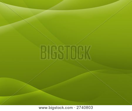 Abstract Background Of Green Color With Smooth Lines