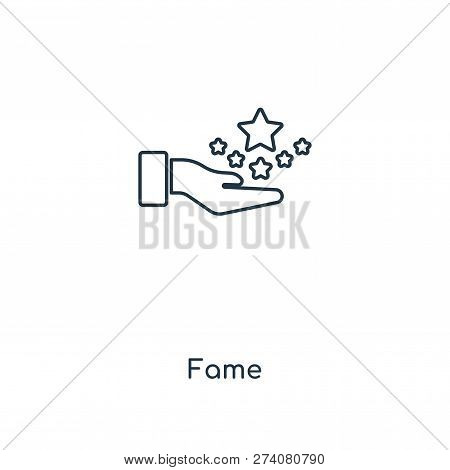 Fame Icon In Trendy Design Style. Fame Icon Isolated On White Background. Fame Vector Icon Simple An