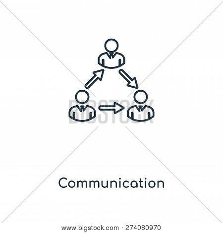 Communication Icon In Trendy Design Style. Communication Icon Isolated On White Background. Communic