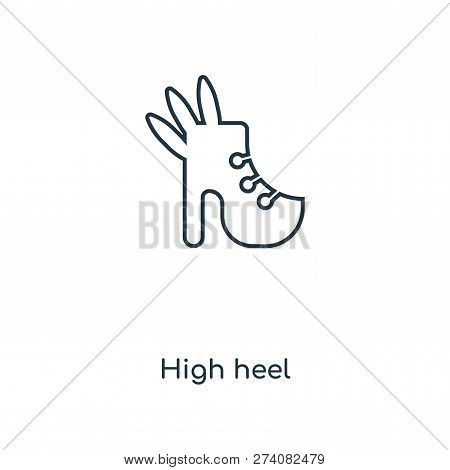 High Heel Icon In Trendy Design Style. High Heel Icon Isolated On White Background. High Heel Vector