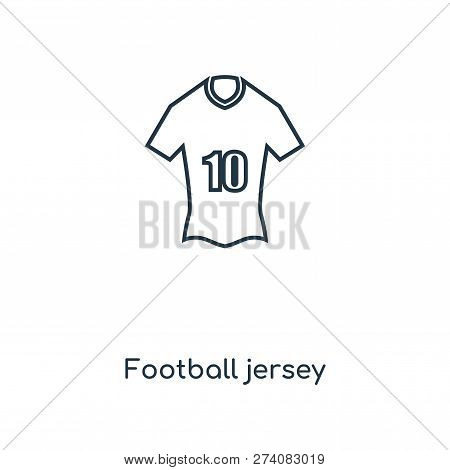 Football Jersey Icon In Trendy Design Style. Football Jersey Icon Isolated On White Background. Foot